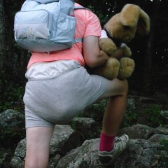 Hiking with full diaper