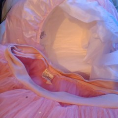 About to wear my faves... Nappies, pink plastic pants and pink tutu!